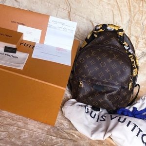 Louis Vuitton Palm Springs PM Backpack & LV Scarf